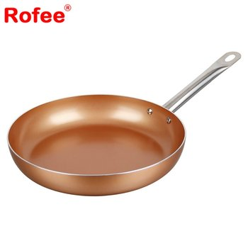copper cookware 95inch non sticking ceramic coating round fry pan - Ceramic Frying Pan