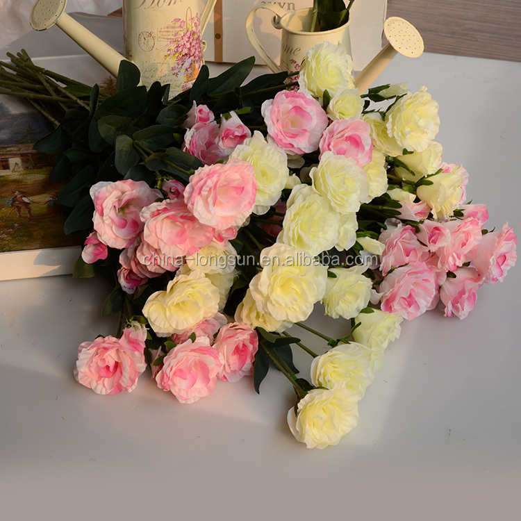 LSD-1609231654 guangzhou factory wholesale artificial silk peony flowers for decoration