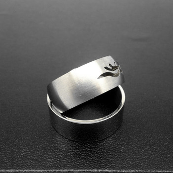 Stainless Steel 8mm Mens Ring Matte Finish Polished ...