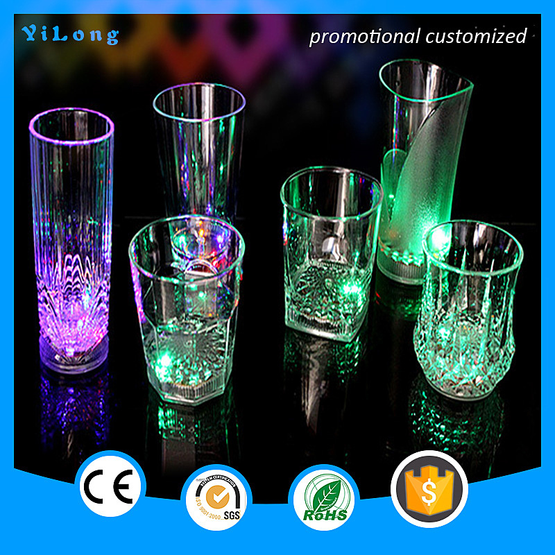 2016 New led cup Multicolor Public Light Magic LED Lighting Cup,Led Glow Champagne plastic with Cheap Price