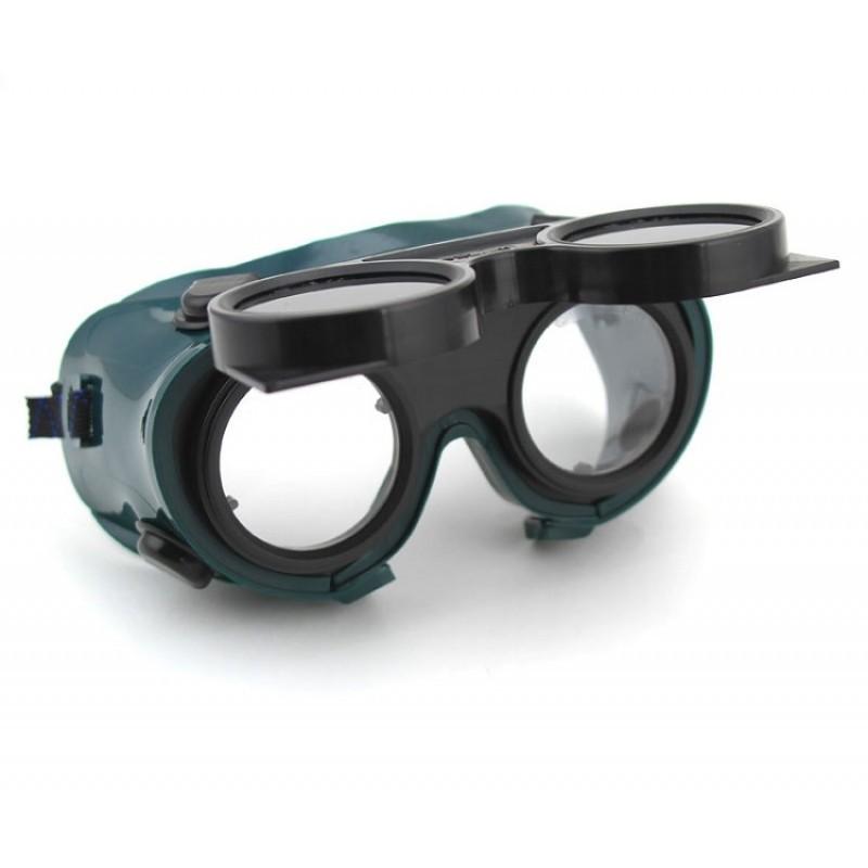 Three 3 Pairs New Welding Cutting Welders Goggles Glasses Flip Up Dark  Lenses