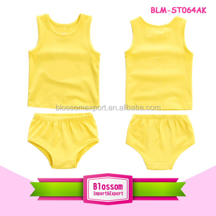 Hot Sale Summer 2pcs Tank Top Set for Kids Girls Boys Wholesale Fashion Boutique Outfits