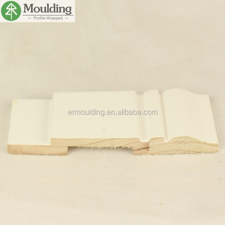 white primed finger joint pine wood skirting board for interior decoration