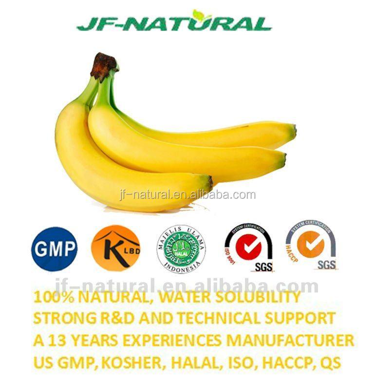 Natural polvo De jugo de Banano fabricación ISO, GMP, HACCP, KOSHER ...