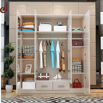 Customized Size Fr Mdf Pd Material Wardrobe Clothes Hanging Cabinet Designs