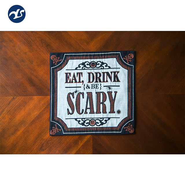 Fashion scary pattern coffee dining table or chair mat