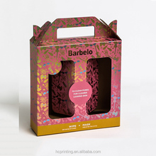 Custom retail logo printed cardboard shampoo packaging