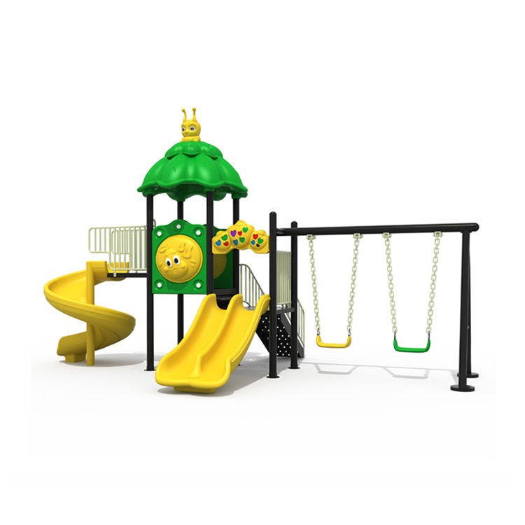 2019 Children Top Quality Newest Fun Plastic Kids Outdoor Playground Equipment with Swing and Slide