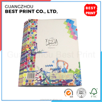 Custom Arabic education book printing perfect binding white paper notebook printing