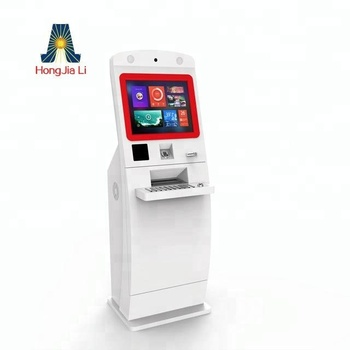 lobby bank atm machine/hotel check-in and out kiosk atm card machine with touch screen (HJL-3100)
