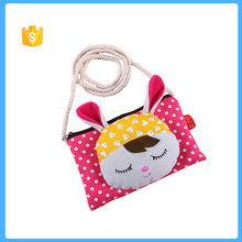 wholesale cute canvas cartoon bag long string bag for embroider