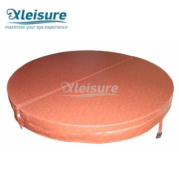 Customized foldable waterproof indoor hot tub round spa cover