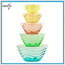 NEW!! All Purpose Glass Bowl and Food Containers 10 Pcs Set Glassware