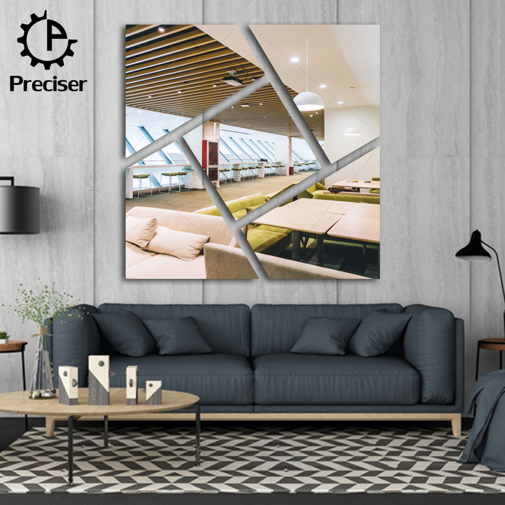Preciser Oversized Wall Stickers Mirror DIY Contemporary Office