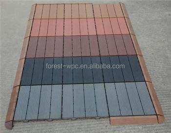 Campione piastrelle wpc pavimento per esterno marrone chiaro