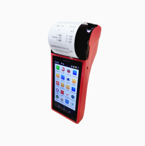 Mobile Android Touch Screen Handheld Pos 58mm Thermal Receipt Printer 5 inch 3G bluetooth WIFI barcode Point Of Sale System