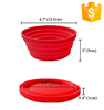 2017 Flexible kitchenware silicone collapsible camping folding bowl