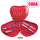 Wholesale high quality professional heart shape nail care kit
