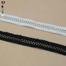 Wholesale cheap Chemical crochet cotton /polyester eyelet ladder lace trim for garment