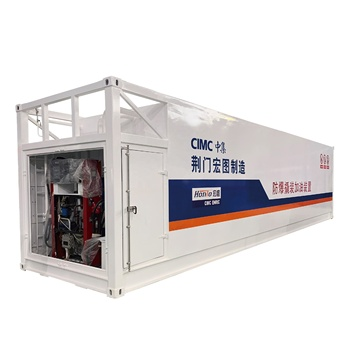 25m3x2 40' 40ft 40feet Seperate Anti-explosion Skid Mounted Diesel Fueling Equipment portable fuel station
