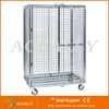Aceally warehouse storage industrial rolling cart roll cage trolley