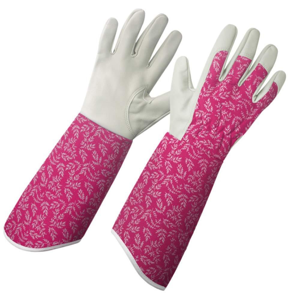 Gardening Ladies Special Planting Gloves Non-Slip Stab-Resistant Breathable Dirt-Resistant Work Gloves,G-40cm