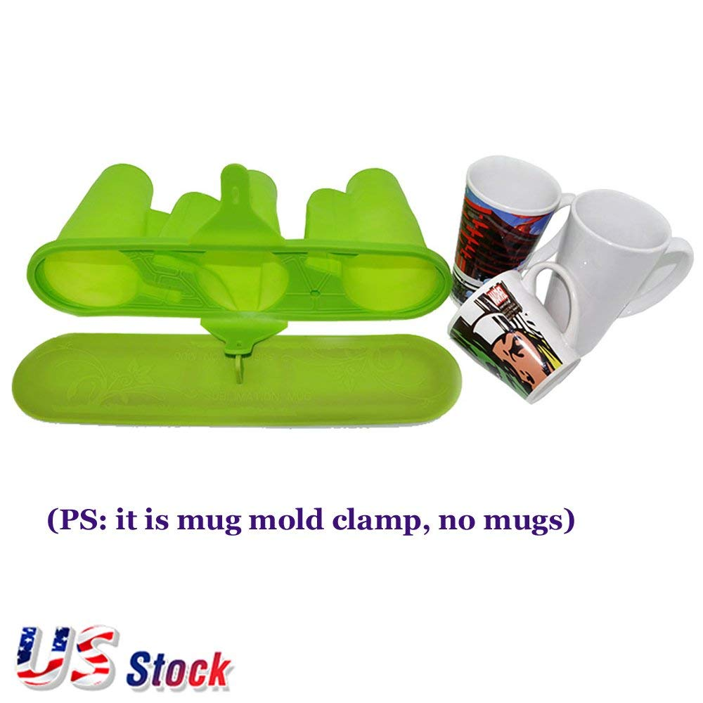 in US Stock 4pcs Sublimation Silicone Rubber Mug Clamps Mug Wraps for 15OZ Mugs