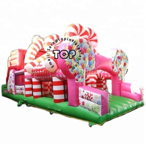 TOP inflatable outdoor playground 5k obstacle course juegos inflables gonflable toys for kids adults made in China