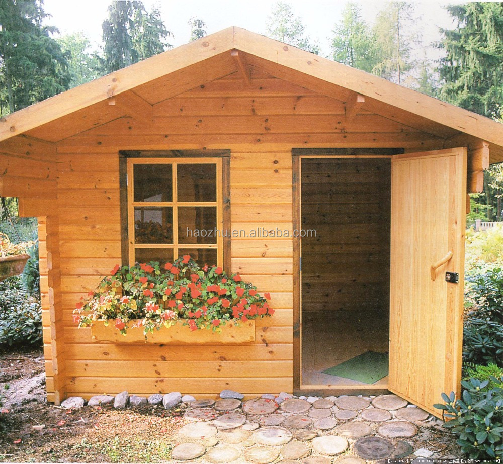 Small durable garden house leisure prefabricated wooden house