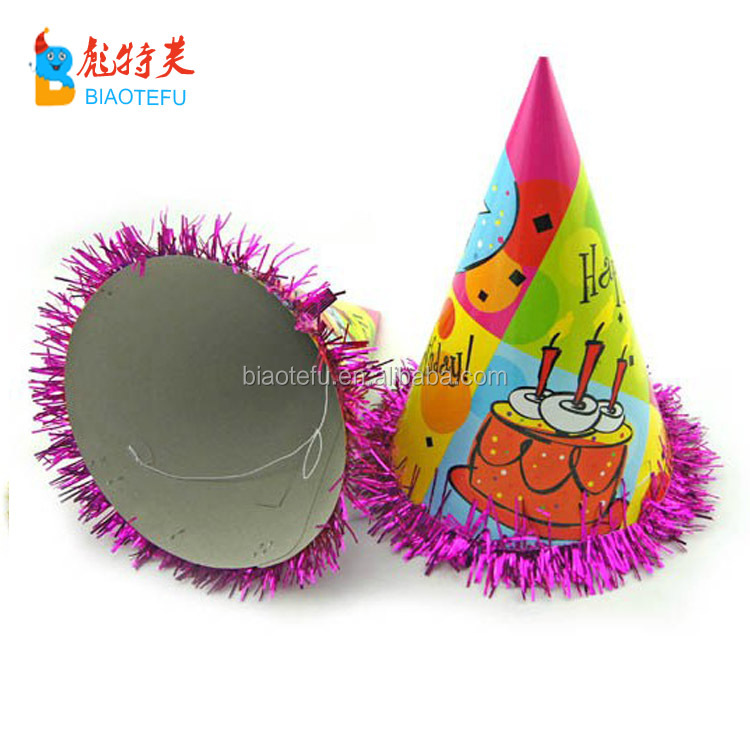 cheap carnival birthday party cone paper hats