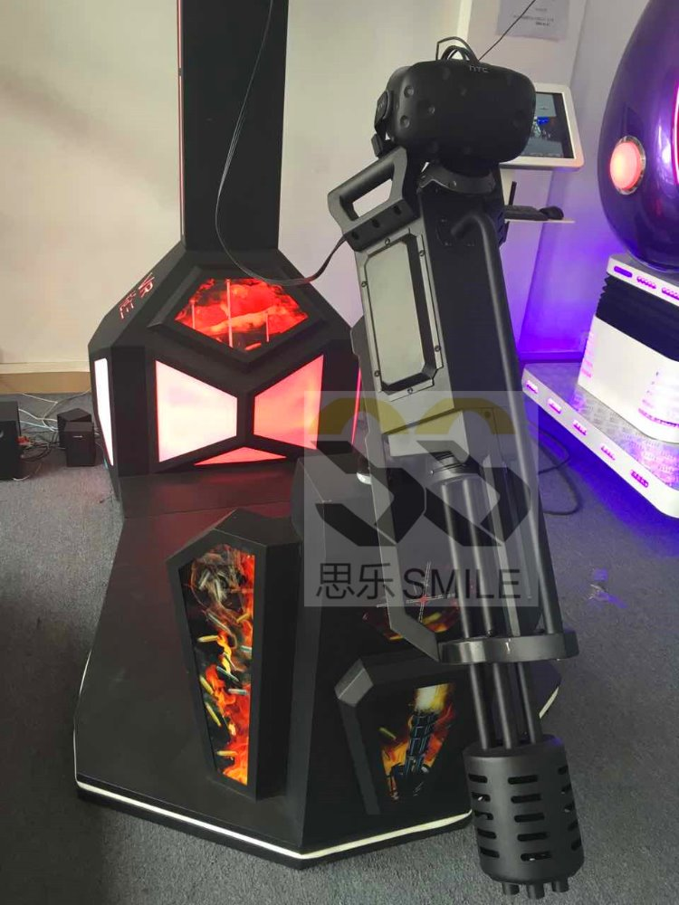 High Profit High Quality VR Gatling gun shooting simulator 9d vr cinema with HTC VIVE headset