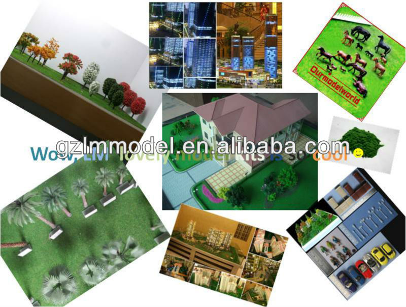 Various architectural sacle model materials in every scale and style for layout and architecture design,model making