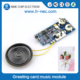 Music greeting card sound module motion sensor voice recorder chip