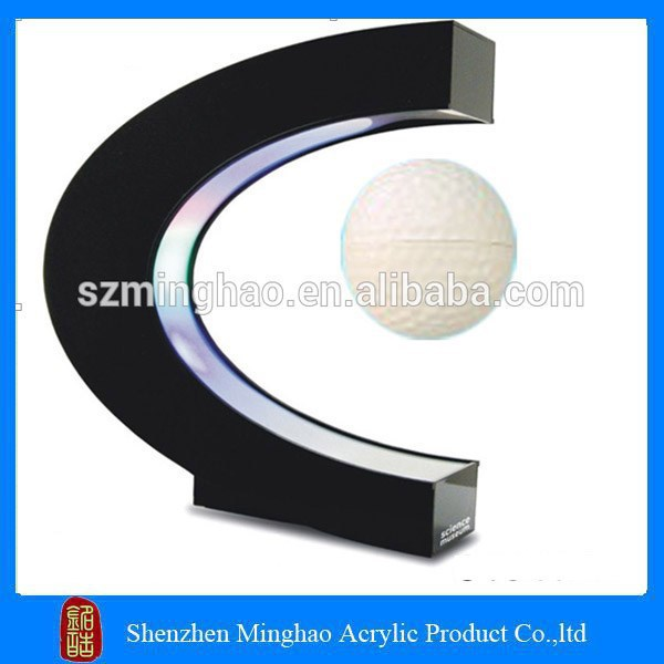 High quality C shape acrylic magnetic levitation photo frame / ball display