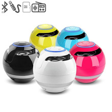 Bluetooth speaker 2017 Mini Round Portable Speaker with FM Radio ibastek speaker for MP3/4 iPAD