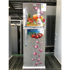 alibaba hot sale stainless steel home double door fridge / refrigerator