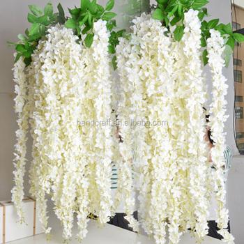Pink,White Wisteria,Artificial Flowers Wisteria Wedding Decoration Wisteria  Silk Flower Wisteria , Buy Decoration Wedding Flower For Wedding Car,Silk