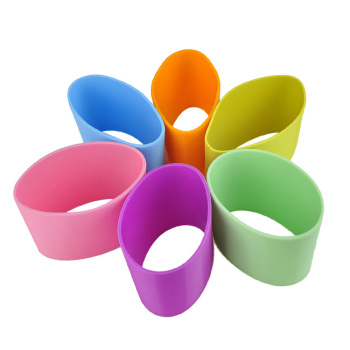 Heat Resistant Reusable Custom Silicone Coffee Cup Sleeves/Lids