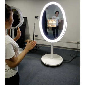 "23.6"" Oval Magic Mirror Photo Booth Flight Case, Mirror Me"