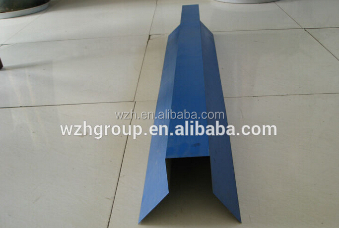 Sheet metal corner for workshop / warehouse roof use/celling tile