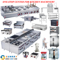 Chinese commercial automatic stainless steel electric and gas kitchen equipment for restaurant and hotel (SY-CKE3)