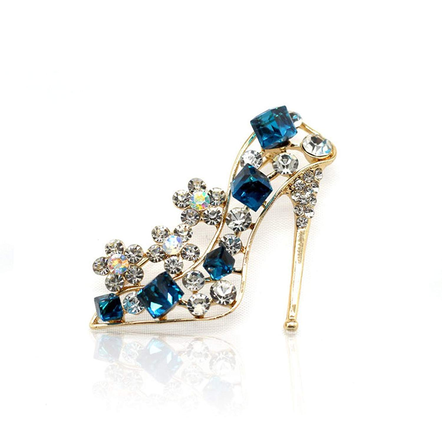 Andyshi Fashion Crystal Jewelry Accessories High-Heeled Shoes Brooches Collar Needle