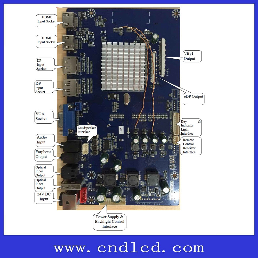 80158db882c UHD 4K 4096 2160 Resolution LCD Monitor Controller Board Solution HDMI  3 + DP