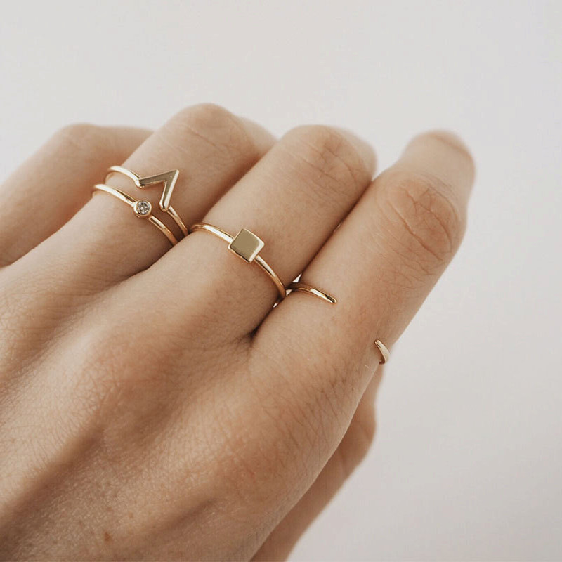Boho Stylish Women Cheap Adjustable Fashion Ring