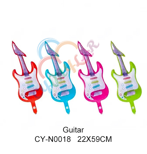 Mini size foil guitar balloon for party decoration