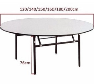 10 seaters PVC banquet folding round wedding table