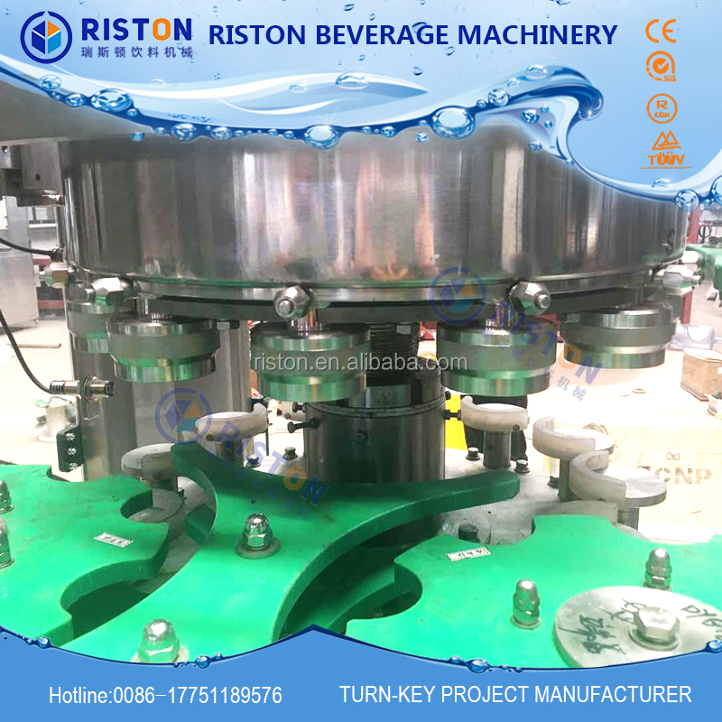 MIC 12 1 Europe standard factory produce directly automatic soft drink beer aluminum Can filling and seaming machine 2000CPH