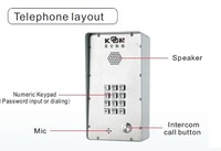 Intercom system Door phone KNDP-43 Koontech mobile voip