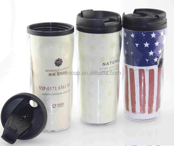 Whole Double Wall Paper Insert Tumbler Plastic Travel Bulk Microwave Safe Coffee Mugs