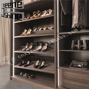 Custom made modern style melamine board wooden shoe rack cabinet